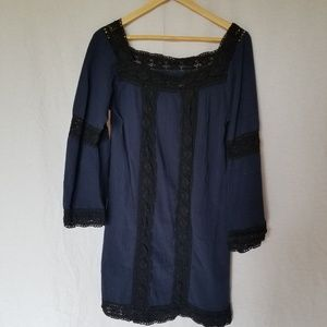 ARTISAN DE LUX COTTON BOHO BELL SLEEVE DRESS